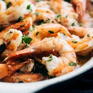 oven baked shrimp scampi
