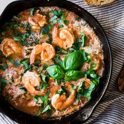 20 Minute Tomato Basil Shrimp Recipe