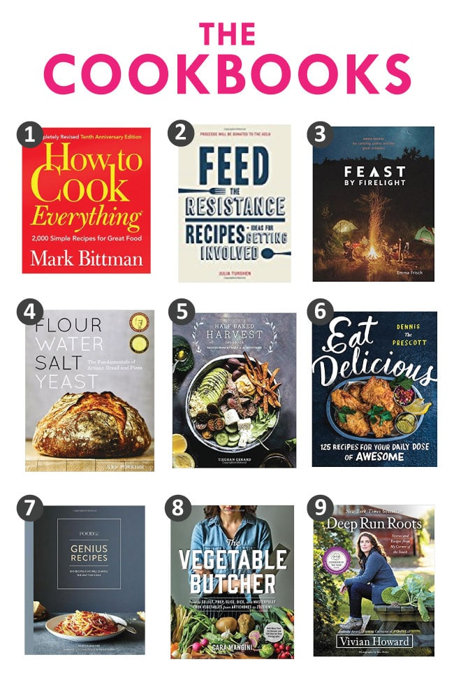 2017 cookbook gift guide graphic