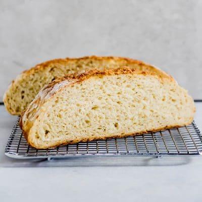 Easy Crusty Asiago Bread