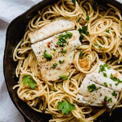 Barramundi Lemon Garlic Pasta