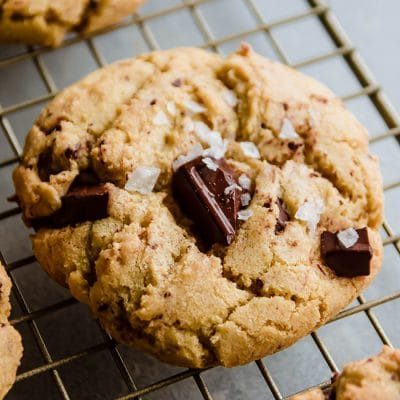 Salted Dark Chocolate Olive Oil Cookies
