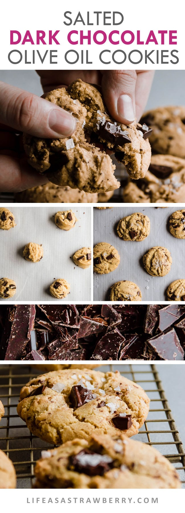 Graphic illustrating how to make chocolate chunk cookies