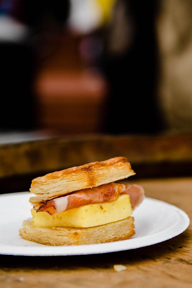 breakfast sandwich from junebaby at feast portland
