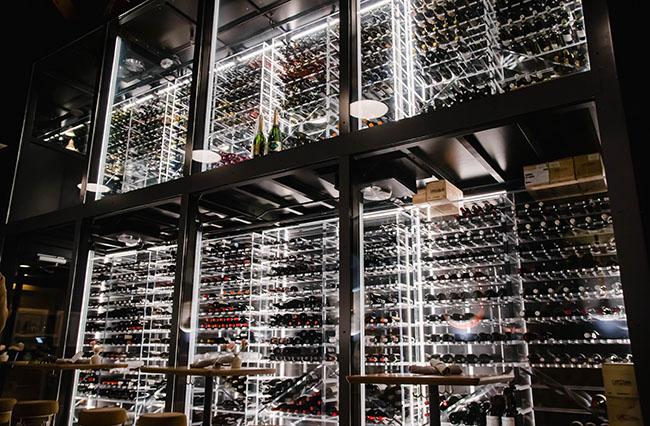floor to ceiling wine storage room