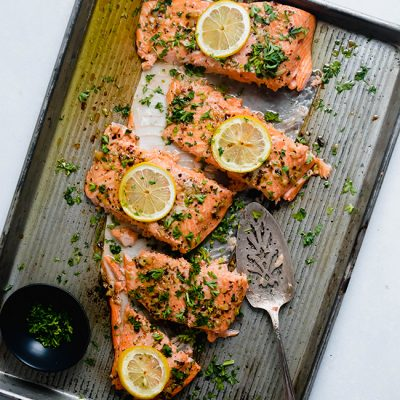 Lemon Garlic Butter Steelhead
